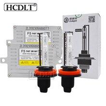 Hcdlt 55 Вт F5 Быстрый Яркий Автомобильные фары Cnlight ксеноновый комплект HID H1 H7 H11 HB3 HB4 D2H авто фары лампы 55 Вт ДЛТ F5T балласт reator