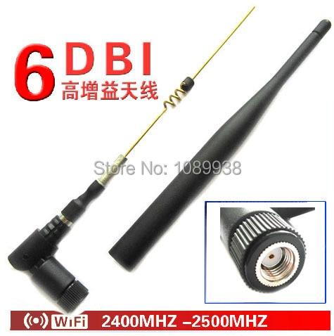 imágenes para Nuevo 2.4 G antena 6 dBi Omni WIFI antena doble banda con RP SMA macho conector para router inalámbrico