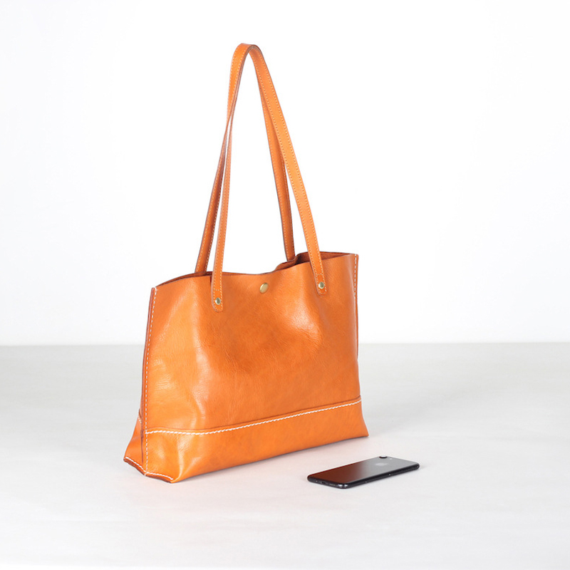 YIFANGZHE Genuine leather womens bag, Top Quality Vintage Women Leather Bags with Large Capacity Roomy Umbrella