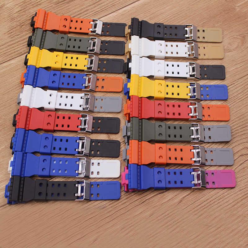 שעון אביזרי סיליקון רצועת מתאים Casio G-SHOCK GD-100GD-110 GA-100 GA-120 שני צבע רצועת גברים ושעון של נשים להקות