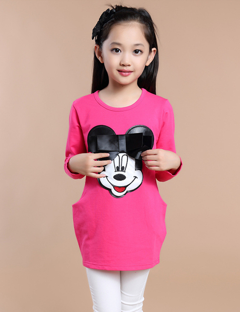 2015 Autumn Hottest Baby Girl Clothes Micke Mouse Children