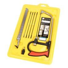 цена на Multi Purpose Hobby Tool 8 in 1 Mental Magic Saw Hacksaw DIY Hand Saw for Woodworking Saws Set Kit JA55