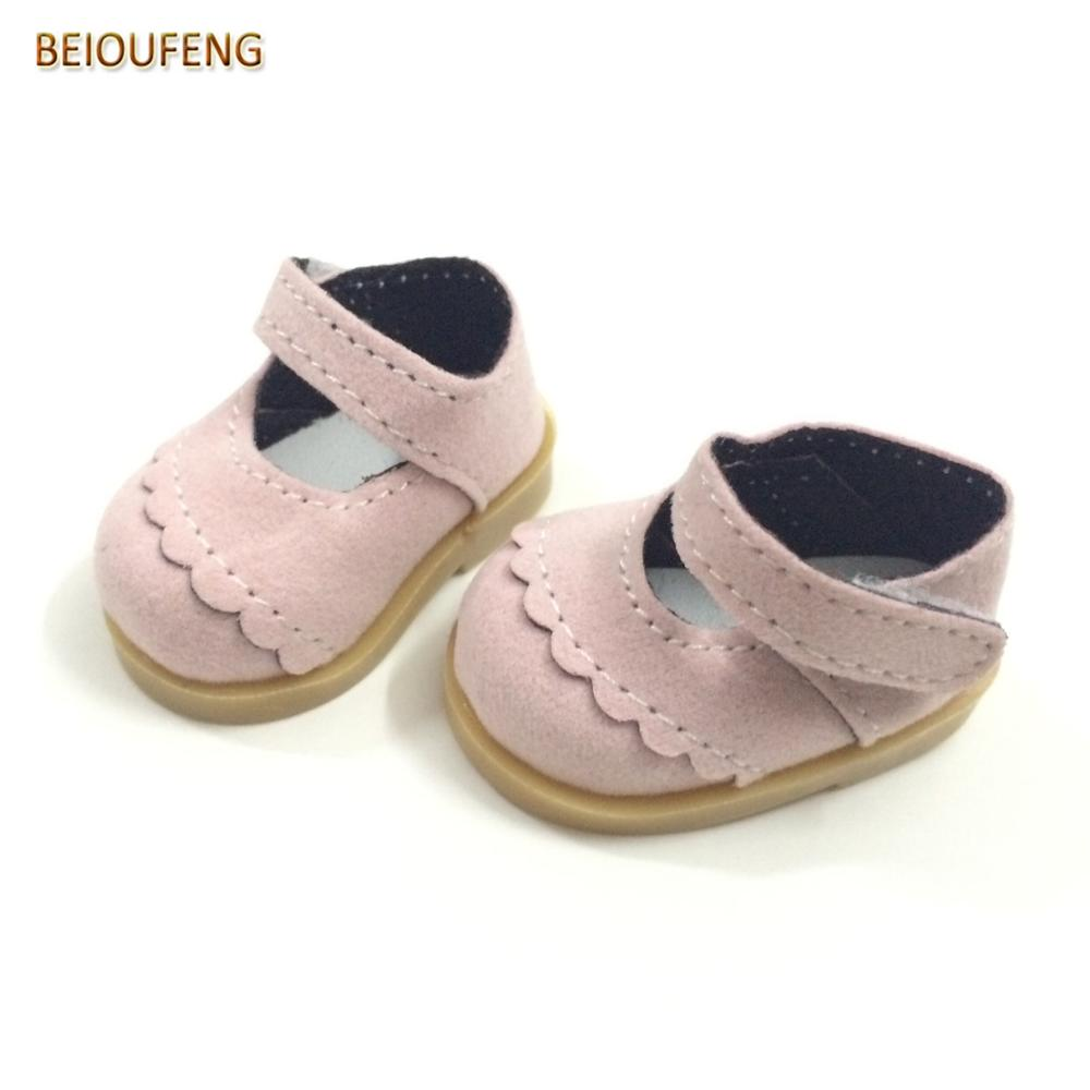 BEIOUFENG One Pair 5CM Doll Shoes For Textile Dolls,Mini Doll Boots 1/6 BJD Footwear For Dolls,Fashion Gym Shoes Sneakers Shoes