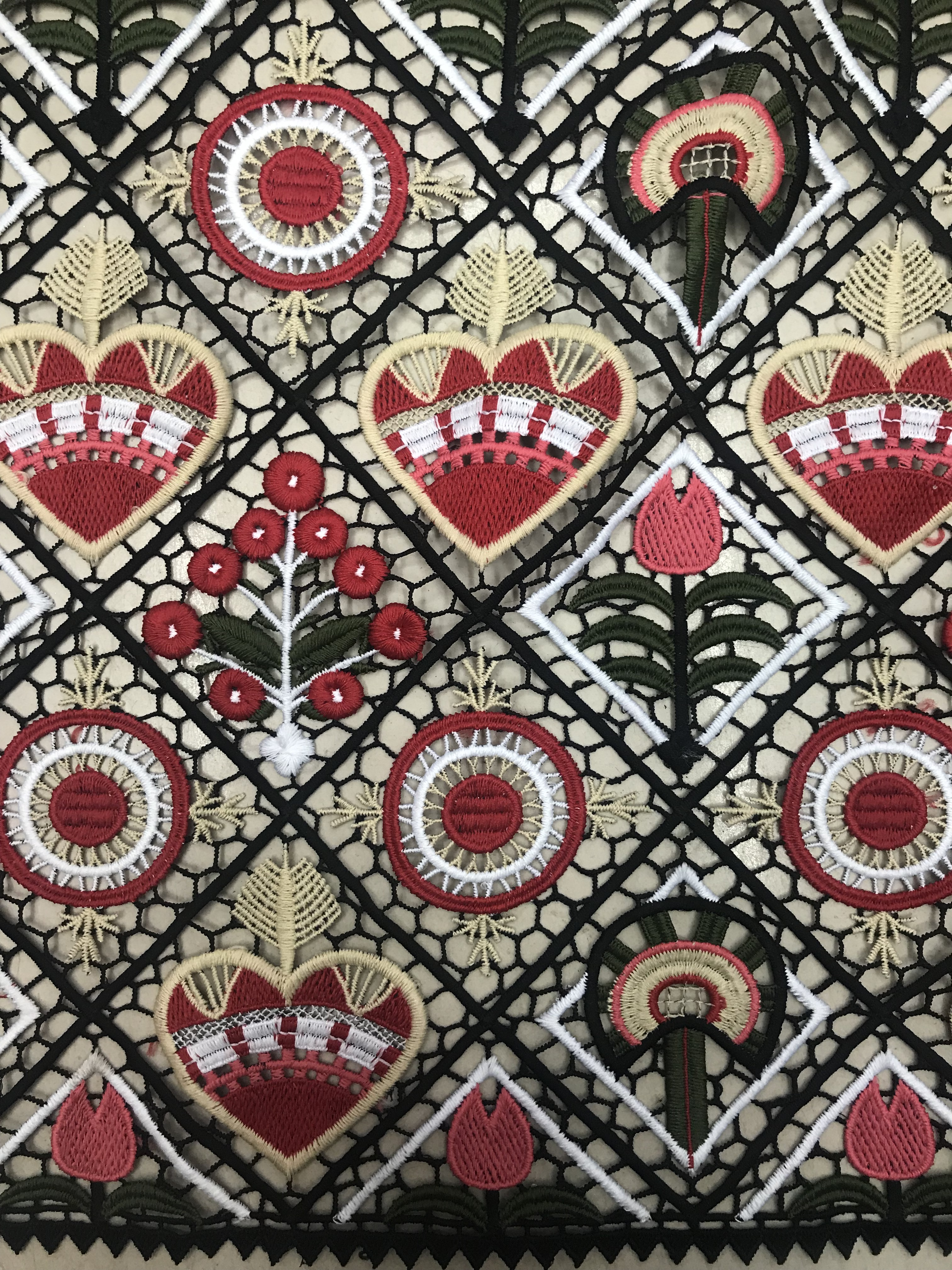 High quality guipure lace fabrics in France Embroidered Nigerian Guipure French Cord Lace Fabric High quality