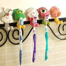 5pcs/lot cute Cartoon sucker toothbrush holder suction hooks bathroom set accessories Eco-Friendly Worldwide Store