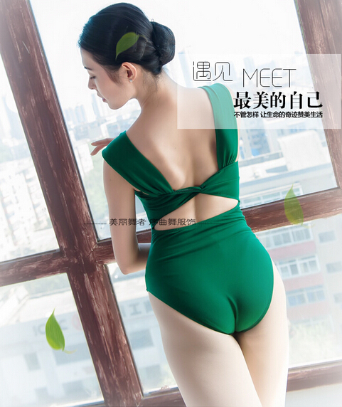 6 colors Green Pink Gray Brown sexy exercise Dancewear Ballet Leotard  girl ballet dance clothes  fashion new adult