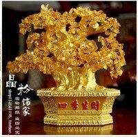 Счастливое дерево ручной бонсай натуральный цитрин кристалл кварца A1