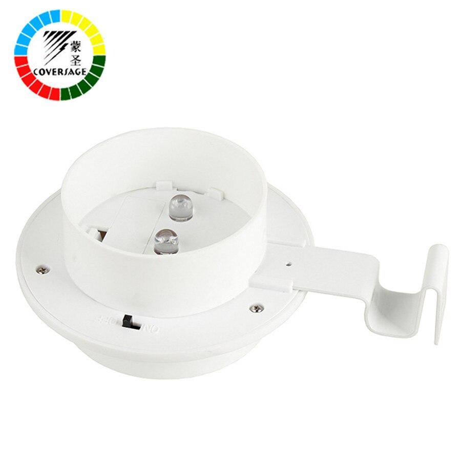 Coversage 3 LED Solar Outdoor Iluminacion Luz Auto Sensor Waterproof Led Energy Wall Lights Garden Lamp Wireless Luces Bulb