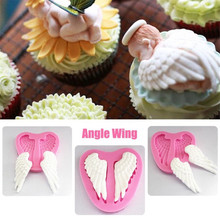 SEAAN Angel wings Silicone Mold Fondant Cake Decorating Tools Chocolate Gumpaste Molds, Sugarcraft, Confectionery Kitchen