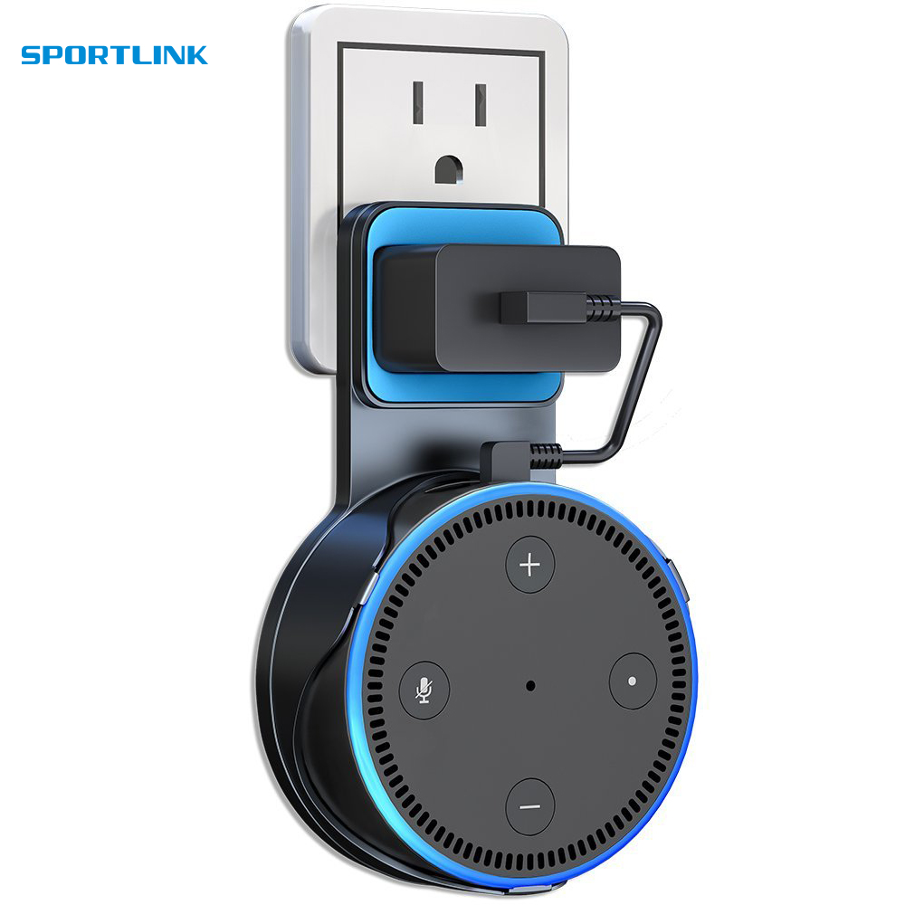 Dot Wall Mount Outlet Hanger Clip USB Cable For Amazon Echo Dot 2nd Generation, Fixed Charging Wall Mount Brackets