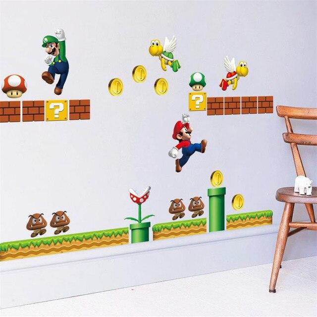 2017 neue design Riesige Große Super Mario Bros Vinyl Wand Für ...
