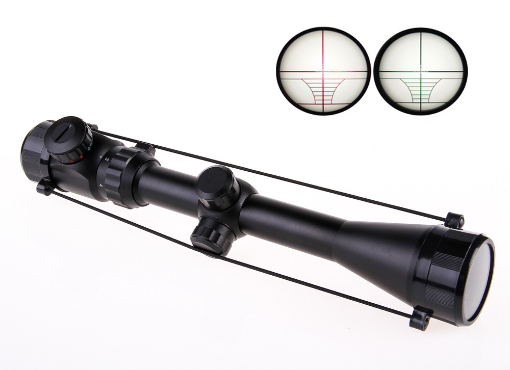 Livraison gratuite Ak Airsoft 3-9X40EG tactique de Vision Nocturne chasse Optique vue sniper Cerfs de Tir SNIPER Rouge Vert Dot Portée
