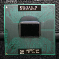 CPU laptop Core 2 Duo T9800 CPU 6M Cache/2.93GHz/1066/Dual Core Socket 478 PGA Laptop processor forGM45 PM45