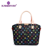 KAISIMAN Beautiful Printing Handbags In Europe And The United States Trend Fashion Ladies Shoulder Bag Retro