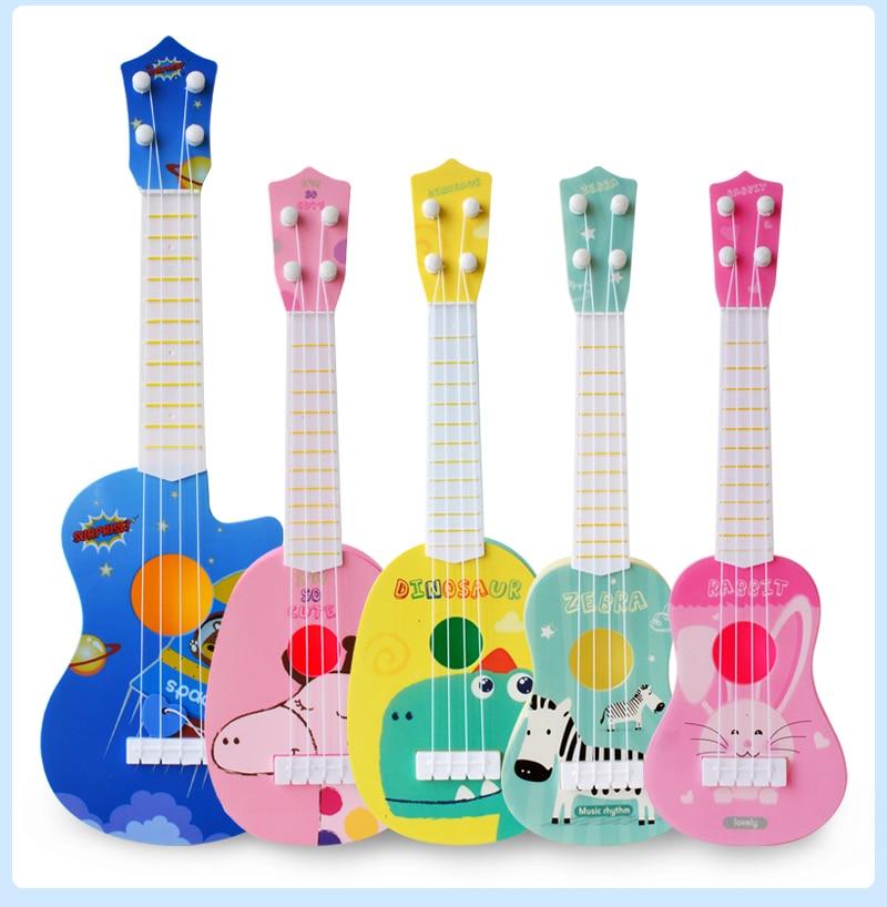 39/44cm Kids Mini Ukulele 4 String Style Kids Guitar Musical Instruments Toys For Children Music Education Beginner X'mas Gift