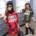 Crianças Vestir para Meninas Vestidos de Camuflagem Casuais Infantis Vestido Crianças Vestidos de Roupas De Veludo Inverno Presentes de Natal Quentes Roupas 3-12