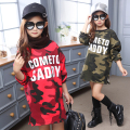 Kids Dress for Girls Camouflage Dresses Infant Casual Dress Children Velvet Clothes Winter Dresses Xmas Gifts Warm Clothing 3-12