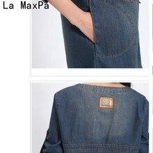 Plus Size Women Clothing 2018 New Spring Jeans Shirt Dress Woman Autumn Vintage Long Sleeve Denim Dresses For Women Vestidos
