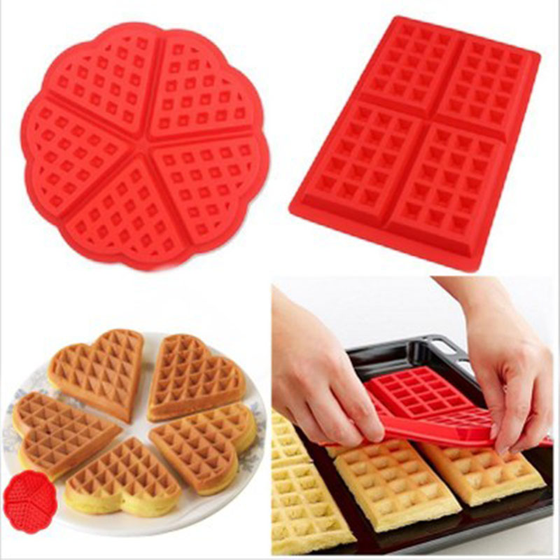ULKNN Silicone Waffle Mold bakeware DIY Chocolate waffle Modle Kitchen Cooking Cake Makers Tool Kitchen Accessories image