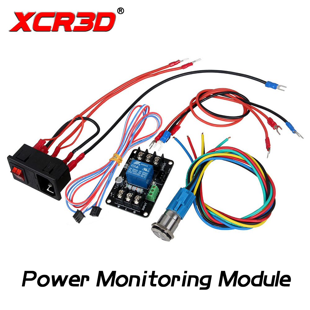 XCR3D 3D Printer Parts Power Monitoring Module Power-Off Continued to Play Module Automatically Put off For Lerdge Motherboard 0957 2157 power module for printer parts used