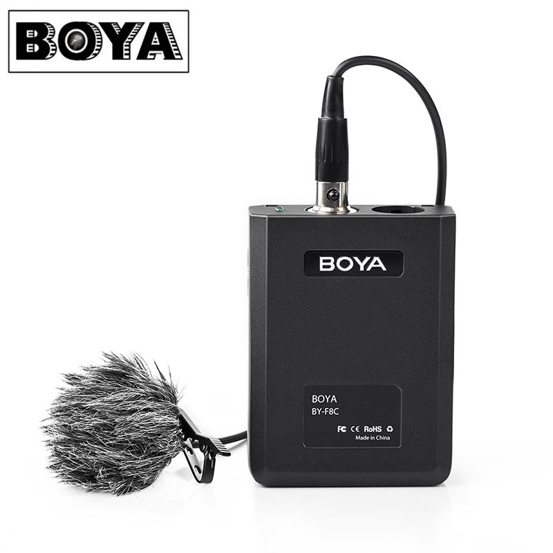 BOYA BY-F8C Cardioid Condenser Lavalier Microphone Video Instrument Interview for Canon Nikon Sony for iPhone Smartphone