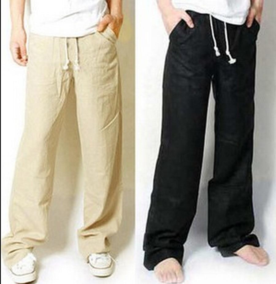 baggy linen pants for men - Pi Pants