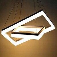 80*50 см + 60*30 см акриловые современный светодиодный Открытый Подвесные Светильники лампа для столовой Гостиная Освещение Люстры E pendentes де Сал