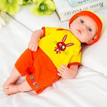 Bebe bébé parlant poupée jouets cadeau 40 CM reborn bébés à piles vinyle nouveau-né bébé bonecas cadeau