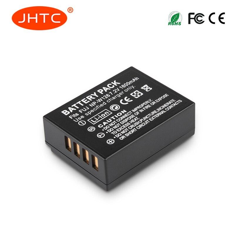 JHTC 1Pc 1600mAhNP-W126 NP W126 NPW126 Battery for Fujifilm FinePix HS30EXR HS33EXR HS50EXR X-A1 X-E1 X-E2 X-M1 X-Pro1