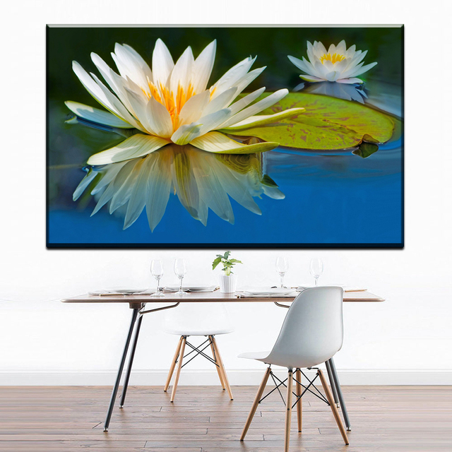 Zz1277 modern canvas wall art prints beautiful white lotus flower zz1277 modern canvas wall art prints beautiful white lotus flower water canvas pictures oil art painting mightylinksfo