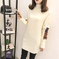 Nowy Kobiety Koszule Knitting Stałe Umieścić Szmatką Głowy Sweter Rękaw Bluzki Koszula Armii Zielony Czarny Ryż Białe Wino Czerwone 9093