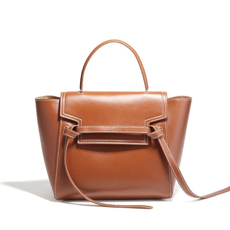 simple Female belt wings handbag women Genuine Leather handbags womens shoulder crossbody bags tote lady hand bag bolsa feminina цена
