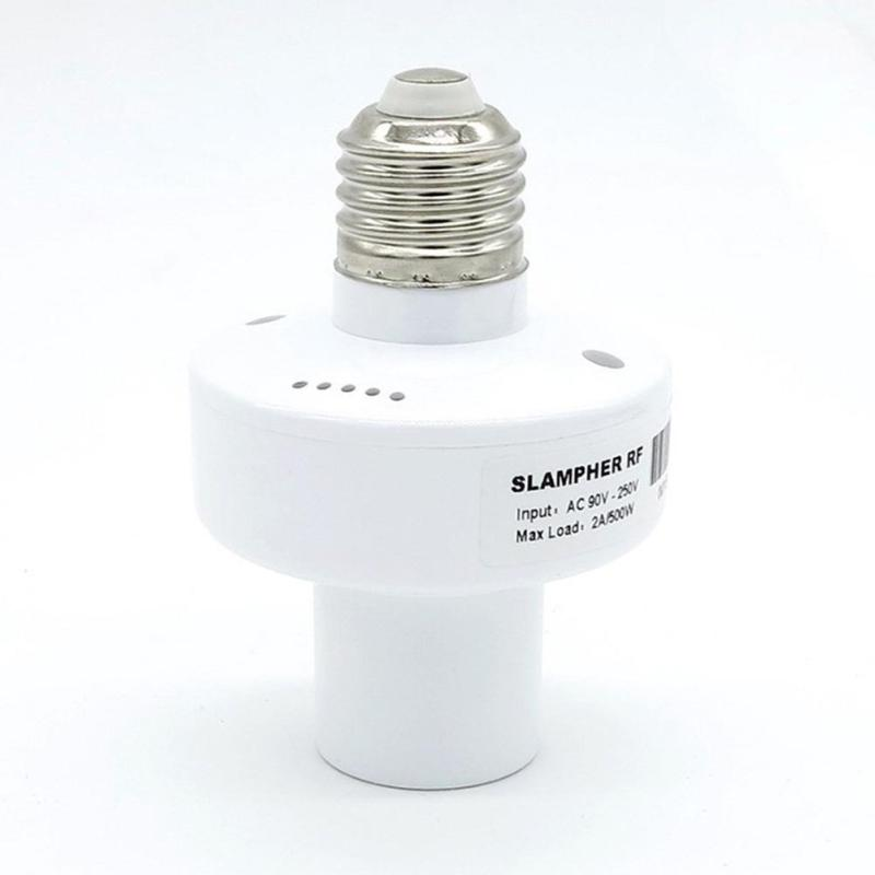 1pcs E27 Screw WiFi Switch Control Via IOS Android Wireless Control Light Lamp Bulb Holder  433Mhz RF Remote Lamp Switch AC220V ac220v rf wireless remote control light lamp switch system 1receiver