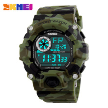 Men Digital Sports Watches S-Shock SKMEI Watch Men Army Camouflage Mil