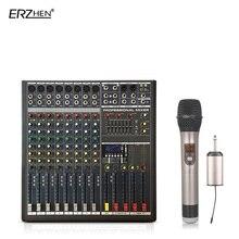 Audio Mixer Console W9000T8C Professional Mixer Audio Amplifier Sound Processor 8 Channel