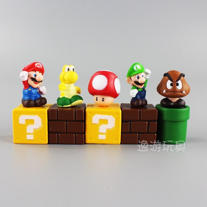 Tv Movies Video Games 8pcs Super Mario Bros Figures Luigi