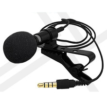 Portable Clip-on Lapel Lavalier Microphone 3.5mm Jack Hands-free Mini Wired Condenser Microphone For Iphone SamsungXiaomi Laptop high quality special black hands free clip on 3 5mm mini studio speech microphone