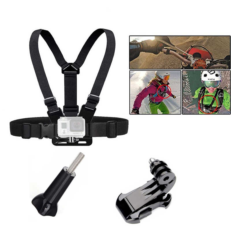 Нагрудный ремень крепление нагрудный держатель для GoPro Hero 3/3 +/4/5 SJCAM SJ5000/6000 для спортивной экшн-камеры Xiaomi Yi Спортивная Экшн-камера Камера аксессуары
