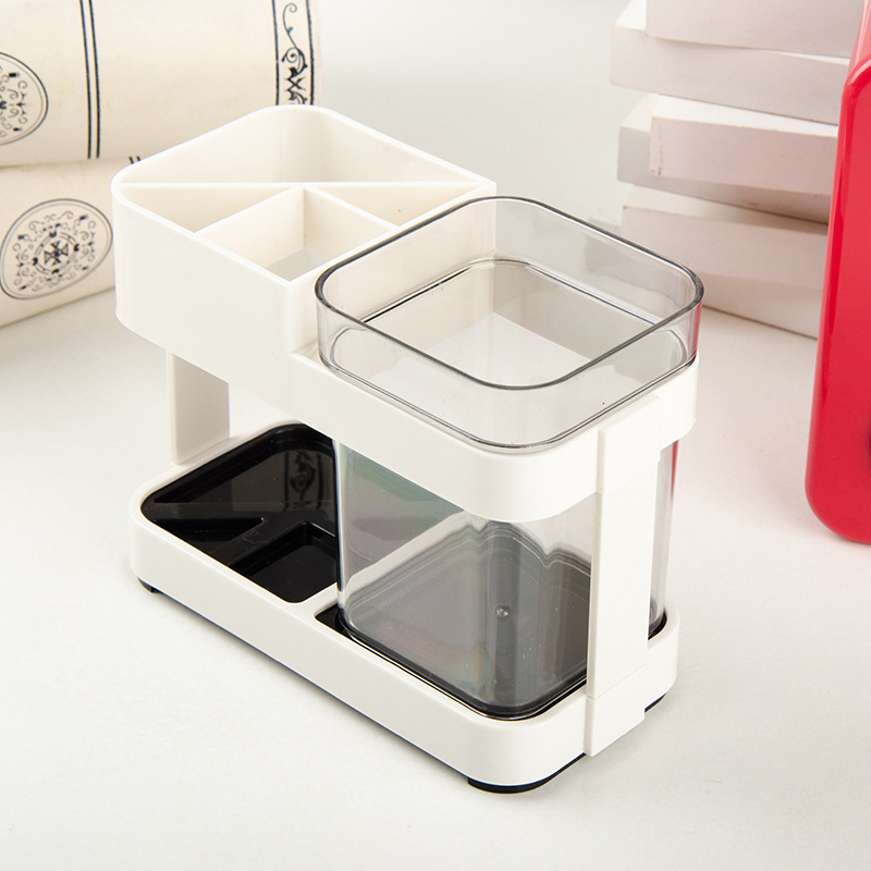 Toothbrush Box Holder Cup Bathroom Storage Toilet Two Removable Dental Liances Seat Creative Supplies In Accessories