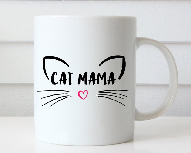 Cat Mom Mug, Cat Coffee/Tea Mug