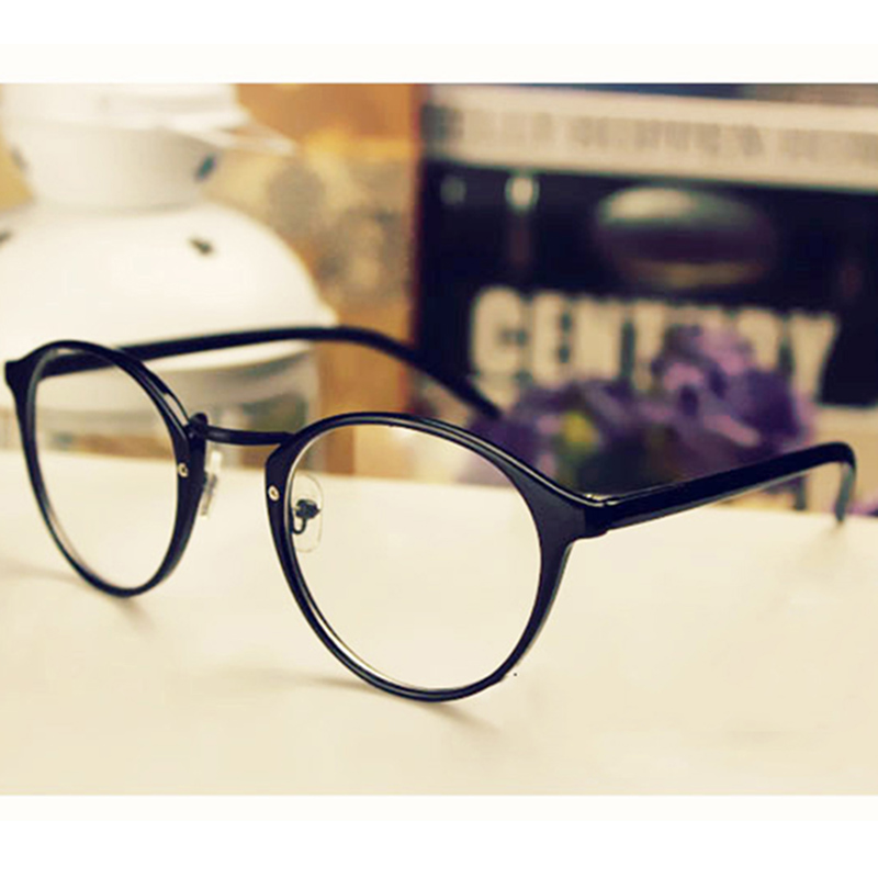 Frame Glasses Geek Eyewear Mirror Spectacles Womens TFJ Clear-Lens Nerd Retro Plain Unisex