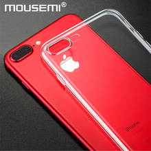 Case For iPhone 7 7 Plus Cases , Transparent TPU Soft Covers Cases For iPhone 7 Plus Luxury Clear Shockproof For iPhone 7 Case(China)