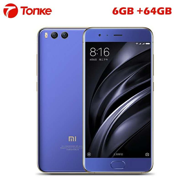 "Original Xiaomi Mi6 Mi 6 Mobile Phone 6GB RAM 64GB ROM Snapdragon 835 Octa Core 5.15"" 1920x1080p NFC QC3.0 Fingerprint ID"