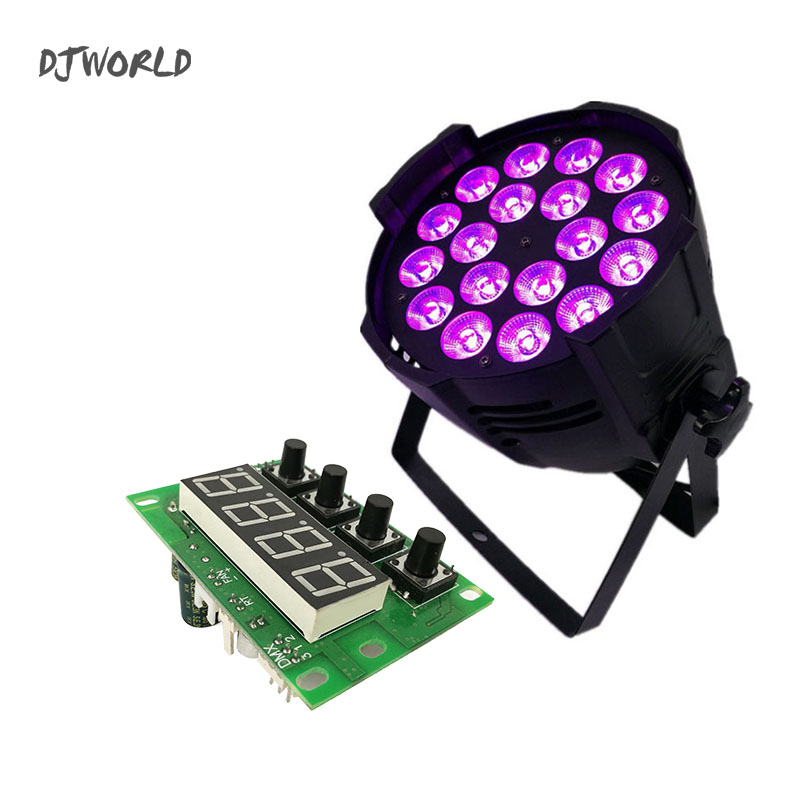 Mainboard LED 18x18W RGBWA+UV Lighting Motherboard  Stage Lights Spare Part Professional LED Part Accessories 6/10 Channel