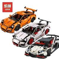 Lepin Technic 20001 Racing Car Set 20086 23006 23002 Model Building Blocks Bricks Compatible Legoing Technic 42056 birthday Toys