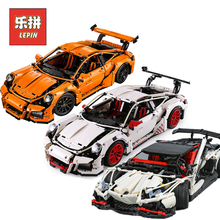 LePin Technic 20001 гоночный автомобиль набор 20086 23006 23002 модель здания Конструкторы кирпичи совместимые Legoing техника 42056 день рождения игрушечные лошадки