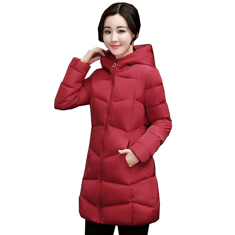 2017 New Women coat Hooded Cotton Jackets Padded Winter Coat Female Loose Casual Warm Jacket Women Parka Mujer outerwear LU421 2017 ukraine exclusive custom winter coat magic cloth dolls and original sweet bunny ears hooded casual loose lovely cotton