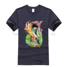 2019 new T-shirt Short sleeve My Hero Academia Large size Japan Anime Cartoon Black And White Summer dress men tee cos play