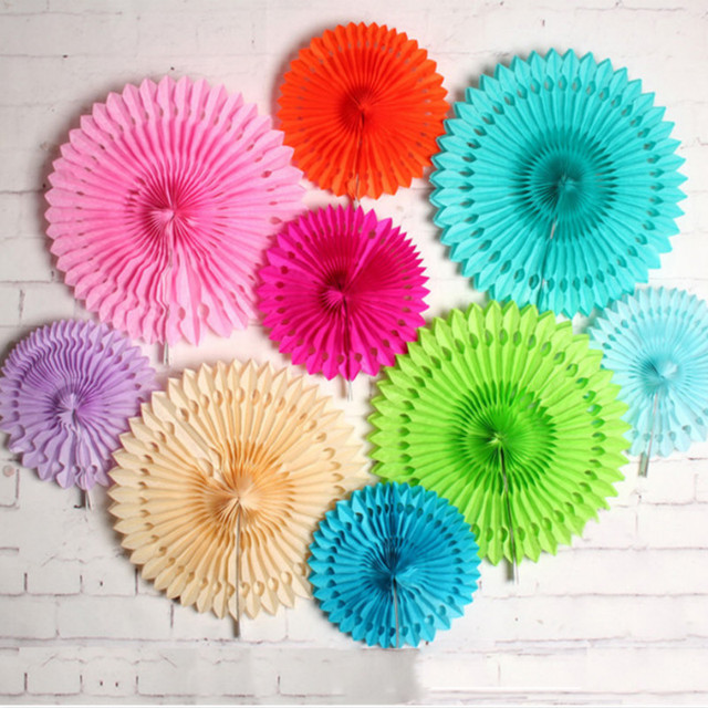 Us 239 30cm Hanging Paper Fan For Party Decorations Summer Party Decor F Birthday Wedding Pool Party Decoration Supplies In Party Diy Decorations