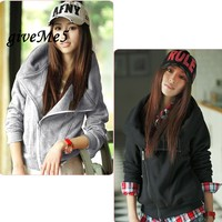 2013 New Fashion Korean Women S Slim Sexy Top Designed Hoodies Coat Jacket S M L
